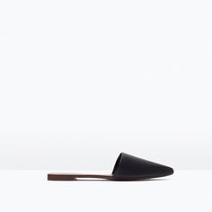 FLAT LEATHER SLIPPERS-Flat sandals-Shoes-WOMAN | ZARA United States