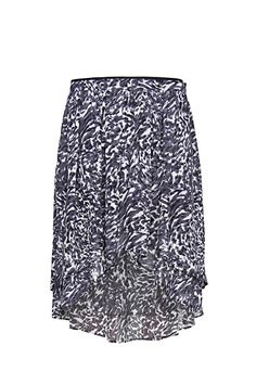 MANGO - Tail hem printed skirt