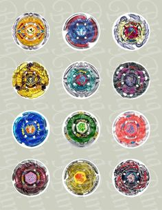 Beyblade Inspired Edible Icing Cupcake Decor Toppers - BB2C