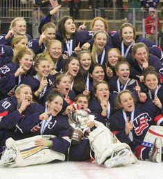 Team USA wins gold in the 2015 IIHF Women's U18 World Championship