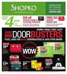 Shopko 2017 Black Friday Ad
