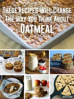 Trying to love oatmeal because you know it's healthy and good for you? These recipes are the best way to fall in love with oatmeal! From spiced apple oatmeal cookies to protein-loaded sweet potato and oatmeal mini casseroles, these recipes are a must:  http://www.ehow.com/how_12343650_recipes-change-way-think-oatmeal.html?utm_source=pinterest.com&utm_medium=referral&utm_content=curated&utm_campaign=fanpage