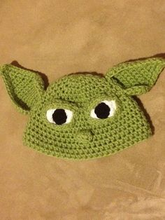 Crochet Star Wars Yoda Inspired Hat Made to by fuzzymonsterknits, -Nay, I'm getting this for your 1st baby!!!