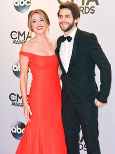 Country Lovin': Cutest Couples at the Show | DRESSED TO THE NINES | New artist nominee Thomas Rhett recently told PEOPLE his high school didn't have a prom (seriously!), but he and wife Lauren make up for lost time in black tie at the CMAs.
