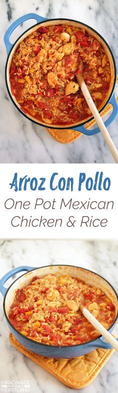Arroz Con Pollo, One Pot Mexican Chicken & Rice Recipe