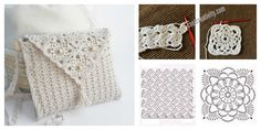 Crochet Pretty Handbag with Graphics