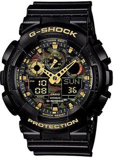 Mens G-Shock Camouflage Dial Series  // GA-100CF-1A9 // #Casio #GShock #Black #Watch // #WatchCentre #Melbourne #Australia #FreeShipping