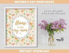 Mother's Day Bundle - Mother's Day Printable - Mother's Day Cards - Mom's Day - Happy Mother's Day - Gifts for Mom, Gifts for Mum Mothers Day Cards, Happy Mothers Day, Mother's Day Printables, Mother's Day Greeting Cards, Pastel Flowers, Mom Day, Gifts For Mum, Art Prints, Frame