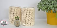 Swirl windlicht haken. Ontwerp Lisanne van Happy Handmade Living. Garen: Durable Chunky Knit Crochet, Knitting, Crafts, Manualidades, Tricot, Breien, Ganchillo, Stricken, Weaving