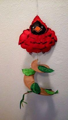 """New Cardinal Leaves Spiral Windsock Evergreen Ent.Inc. 28"""" Outdoor Garden Decor #EvergreenEnterprisesInc"""