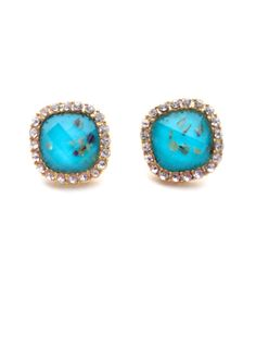 Turquoise Stud Earrings – Teal House Collection
