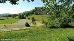 Vue sur le château de Belvoir dans le Doubs.