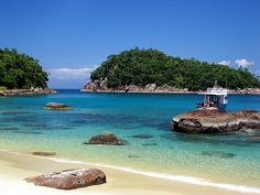 Ubatuba, Brazil - the most beautiful place on earth.  If I ever run away from home, you can find me here ;)