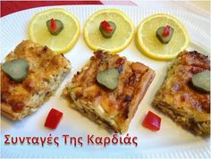 Tart with chicken and leeks - Τάρτα με κοτόπουλο και πράσα Greek Recipes, French Toast, Food And Drink, Blog, Breakfast, Pies, Morning Coffee, Blogging