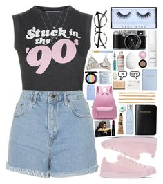 """Road Trip"" by sillyyivyy ❤ liked on Polyvore featuring adidas Originals, Wildfox, Topshop, MAC Cosmetics, Huda Beauty, Vera Bradley, Drybar, Deborah Lippmann, This Works and H&M"