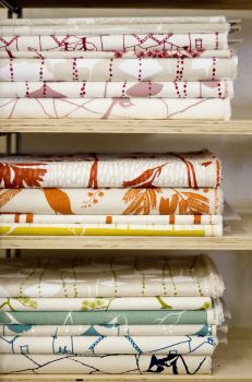 handprinted textiles from 'ink and spindle' amazing designers based in Melbourne.