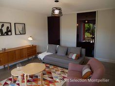 Le salon de l'appartement Jardin Aiguelongue à Montpellier