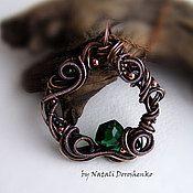 Handmade Jewelry. Fair Masters - handmade copper pendant with green quartz. Handmade.