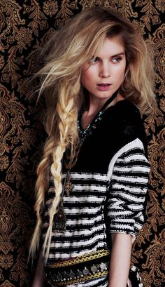 long blonde bohemian hair