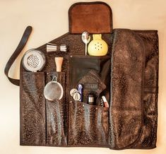 Roll-up bartender tool kit.