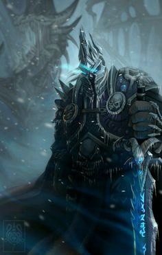 Lich King - World of Warcraft World Of Warcraft 3, World Of Warcraft Characters, Fantasy Characters, Dota Warcraft, Warcraft Art, Hearthstone Heroes Of Warcraft, Arthas Menethil, Illustration Fantasy, Pc Photo