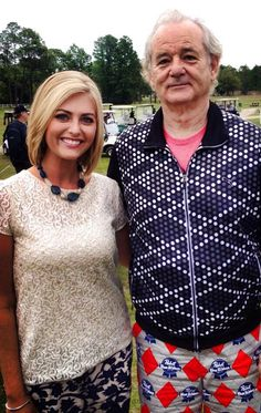 Greatest human being Bill Murray kicked off his annual Murray Bros. Caddyshack Charity Golf Tournament today in Florida. And he did it wearing these incredible golf pants: Bill Murray, Golf Outfit, Pabst Blue Ribbon, Charming Man, Golf Pants, Play Golf, Printed Pants, Ladies Golf, Celebs
