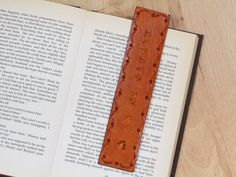 Always In My Heart Bookmark Hand Tooled by TinasLeatherCrafts. Repin To Remember.