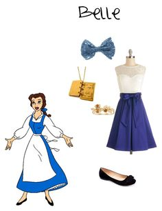"""""""Belle"""" by njewelfernand ❤ liked on Polyvore featuring Disney and Machi"""