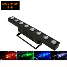 Gigertop 8 Eye COB Led Wall Washer Light Stage Building Audience Blinder Light RGBW 4IN1/White Optional Standing Bracket CE ROHS #Affiliate