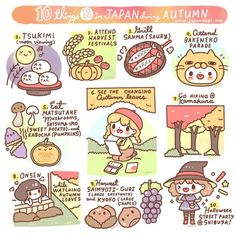 We listed 10 things to do in Japan during fall/autumn season! ❤️ comment if you have more suggestions!  Illustration by: @chichilittle / Little Miss Paintbrush ✨ List references: https://goo.gl/oxvYNH , https://goo.gl/rdGZNU ❤️