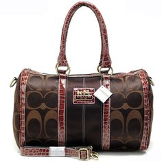 Look Here! Coach In Signature Medium Coffee Luggage Bags APV Outlet Online Cheap Coach Handbags, Cheap Coach Bags, Handbags Michael Kors, Purses And Handbags, Fashion Handbags, Handbags Online Shopping, Designer Handbags On Sale, Designer Bags, Coach Luggage