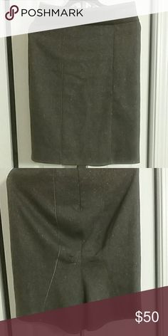 Beautiful  Olive color Bebe skirt The skirt is fully lined / Barely Used. In great condition. bebe  Skirts