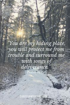 Jesus Christ is our hiding place. carryonmyheart.com. #hidingplace #hope