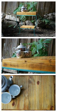 #CoffeeTable, #PalletSideTable, #PalletTable, #RecycledPallet