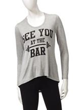 Electric Pink See You At The Bar Grey Hoodie – Juniors