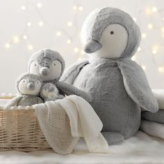 Snowy Penguin Hand Puppet | Little White Company | The White Company #whitechristmaswishlist