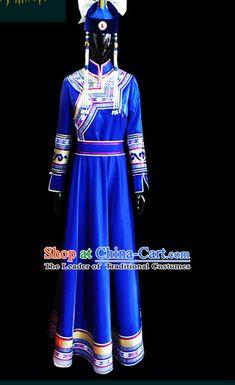 Mongolian People Yuan Dynasty Mongolians Dance Costumes Queen Princess Empress Clothing Clothes Garment Complete Set for Women Girls