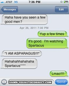I am asparagus! Sounds like a veggie tales movie actually...which I would totally watch by the way