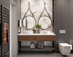 Women's Bathroom: Incredible and Creative Decor Ideas - Home Fashion Trend House Bathroom, Bathroom Fixtures, Bathroom Styling, Home Decor, Chic Bathrooms, Bathroom Interior, Industrial Bathroom Decor, Bathroom Renovations, Latest Bathroom Designs