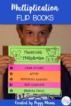 These 9 Multiplication Strategies Interactive Flip Books and anchor posters will help your students understand the concept of multiplication and help them memorize their multiplication tables. Each flip book follows the same format, so once your students learn how to do one, they can do the additional ones with greater independence.