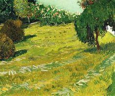 Vincent Van Gogh (Dutch, 1853-1890) - Garden with Weeping Willow, 1888