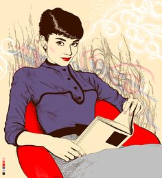 Audrey reading