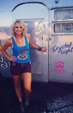 Miranda lambert in her junk gypsy American Dream tank on the opening night of her Platinum Tour .. #mirandalambert #platinumtour #americandream