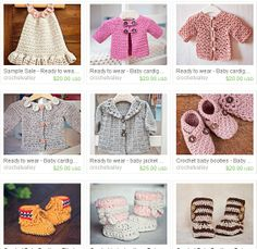Sample Sale on www.crochetvalley.etsy.com Use coupon code SAMPLESALE at the checkout and receive 30% discount! crochet, baby clothing, crochet dress, crochet booties, crochet cardigan