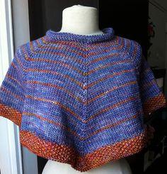 Ravelry: Violets Afire Capelet pattern by Dana Freed