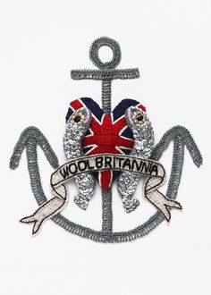 "Kate Jenkins - Crocheted Food Art, ""Wool Britannia"""