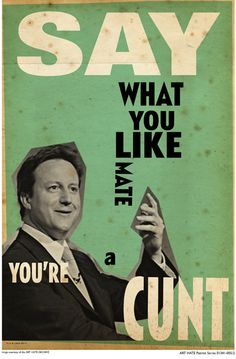 Billy Childish - Dave Cameron poster