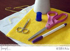 futuregirl craft blog : Tutorial: Simple Felt Daisy