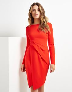 Lipsy Long Sleeve Wrap Dress #workwear