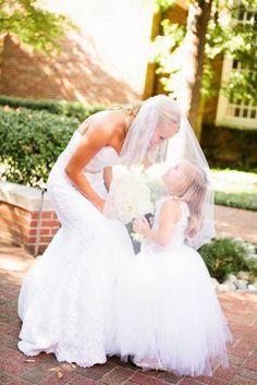 D Weddings | Jacey Travis & Cy Bullock - flower girl dress, tulle flower girl dress